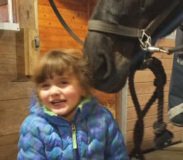 Lilly with Onyx at Lindsay's stable